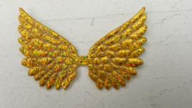 Vleugels  goud glitter