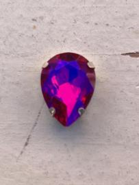 Flatback rhinestone druppel diamant hot pink 1.8cm