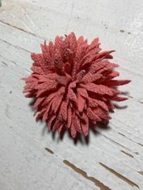 Vintage bloem coral 7cm