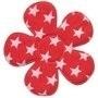 Bloem rood met witte sterren 4,5 cm