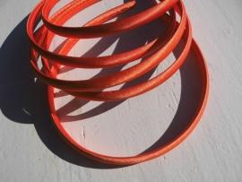 Diadeem satijn neon oranje 1cm