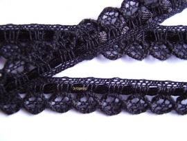 SBK59a Zwart sierband met lint