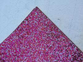 Glitter Leer grof Roze/Zilver mix 20x30cm