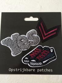 Patches Yes/Schoen/V opstrijkbaar