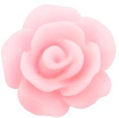 Roos kraal licht roze 10mm acryl