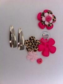 DIY Haarknipje's roze mini flatback