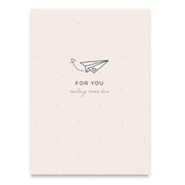 "Sieraden kaart ""For you"" Roze"