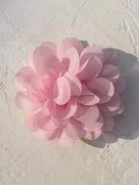 Chiffon bloem baby roze 7cm