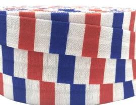 Elastische vlag horizontaal print biasband (haarband)