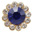 flatback rhinestone  luxe donkerblauw 1.2cm