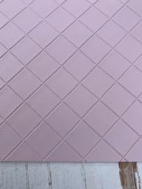 Leer structuur blokken pastel roze