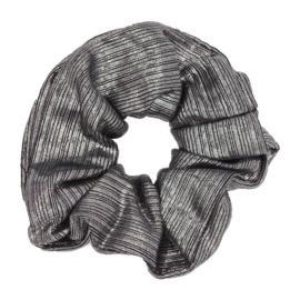 Scrunchie Haarwokkel grijs metallic