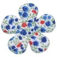 Bloemen bloem blauw 4,7cm