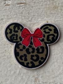Minnie tijger flatback/patch  PU leer