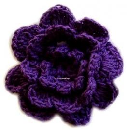 A0228 Gehaakte katoenen bloem paars