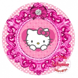 Flatback poesje in frame roze polkadot