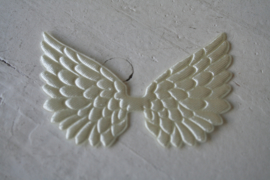 Vleugels off white satijn