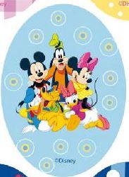 Mickey Mouse applicaties opstrijkbaar  rood