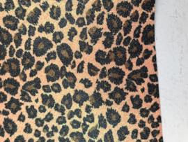 leer panter/tijger glitter  20x30 cm