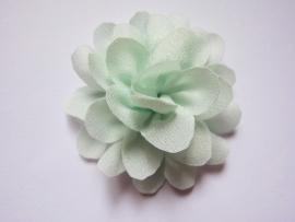 Chiffon bloem mint 5,5 cm