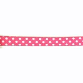 Rolband stip  fuchsia 50cm(diadeem maken)