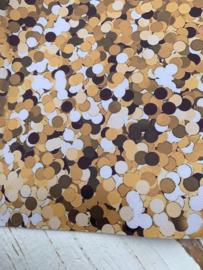 Leer polkadot confetti aqua/wit/blauw