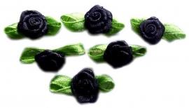 Roosjes met blad zwart