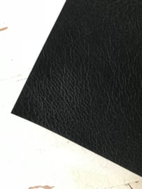 Leer kreuk motief zwart