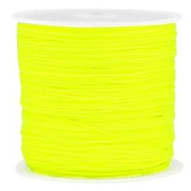 Macramé draad neon geel 0.8mm