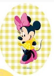 Minnie Mouse applicaties opstrijkbaar  ruitje lime