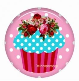 Flatback cupcake aqua (k793)