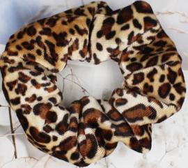 Scrunchies Haarwokkel tijger/panter velvet