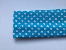 Haarband  blauw polkadot