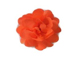 Chiffon bloem neon oranje 5.5 cm