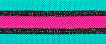 Elastisch band gestreept mint-roze met rood-brons glitter 3 cm