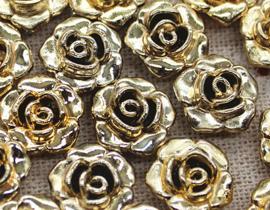 Roos kraal goud 13 mm