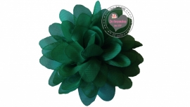 Chiffon bloem groen 6,5cm