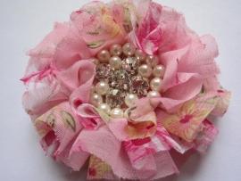 Luxe bloem met strass en parels flower