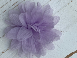 Glitter Bloem lila 7 cm
