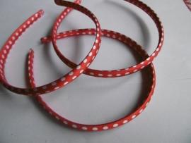 diadeem rood polkadot 1cm