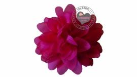 Chiffon bloem  fuchsia 6,5cm