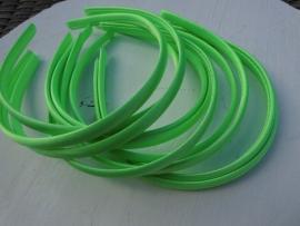 Diadeem satijn neon groen 1cm