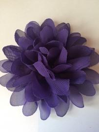 Bloemen chiffon 11 cm paars