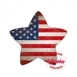 Flatback  Amerikaanse vlag (ster) (K093)