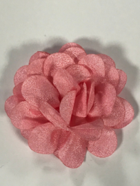 Chiffon bloem roze 5,5 cm