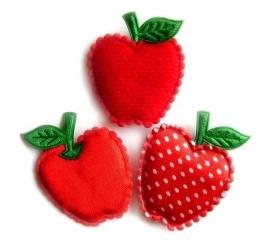 Appeltjes rood satijn
