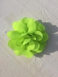 Chiffon bloem neon groen 7cm