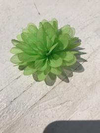Glitter Bloem lime 7 cm
