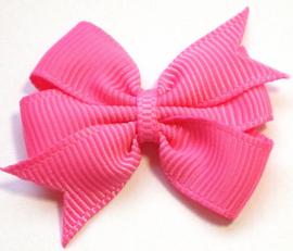 Strik dubbel roze grosgrain