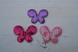 Vlinders pailletten groot